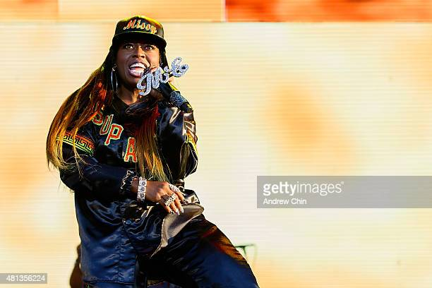Singersongwriter Missy Elliott performs onstage during the Pemberton Music Festival on July 19 2015 in Pemberton Canada