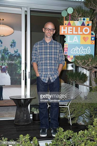 Singersongwriter Moby attends the Airbnb presents Hello LA with celebrity designed pop ups Moby at The Viper Room on September 28 2013 in West...
