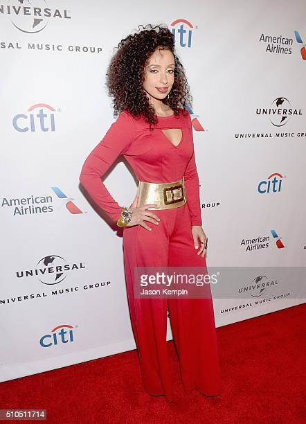 Singersongwriter Mya attends Universal Music Group 2016 Grammy After Party presented by American Airlines and Citi at The Theatre at Ace Hotel...