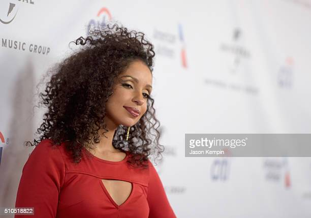 Singer-songwriter Mya attends Universal Music Group 2016 Grammy After Party presented by American Airlines and Citi at The Theatre at Ace Hotel...