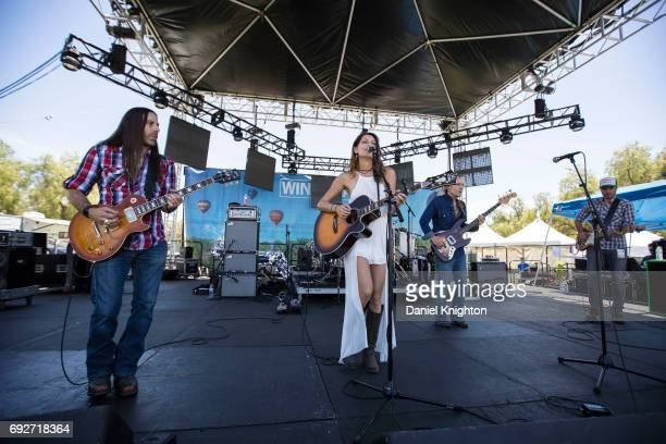 Singer/songwriter Nadia Lanfranconi performs on the Wine Stage at Temecula Valley Balloon And Wine Festival on June 3, 2017 in Temecula, California.