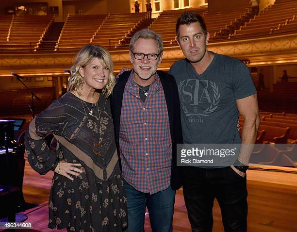 Singer/Songwriter Natalie Grant, Singer/Songwriter/Host Steven Curtis Chapman and Singer/Songwriter Jeremy Camp on stage during Sam's Place - Music...
