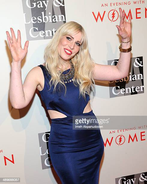 Singer/songwriter Natasha Bedingfield attends The LA Gay Lesbian Center's 2014 An Evening With Women at The Beverly Hilton Hotel on May 10 2014 in...