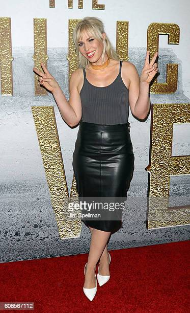 Singer/songwriter Natasha Bedingfield attends the 'The Magnificent Seven' New York premiere at Museum of Modern Art on September 19 2016 in New York...