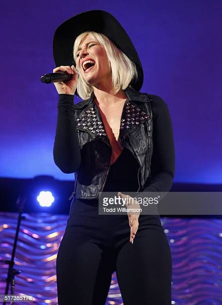Singersongwriter Natasha Bedingfield performs onstage during UCLA IOES celebration of the Champions of our Planet's Future on March 24 2016 in...