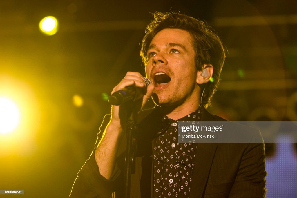 Singer-songwriter Nate Ruess of the indie rock band fun. performs during the 2013 Allstate fan fest at the Allstate Sugar Bowl in the Jax Brewery Parking Lot on January 1, 2013 in New Orleans, Louisiana.