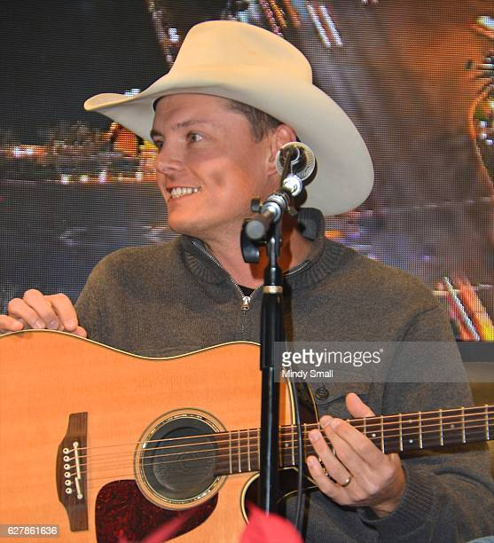 Singer/songwriter Ned LeDoux performs during the Outside The Barrel with Flint Rasmussen show at Rodeo Live during the National Finals Rodeo's Cowboy...