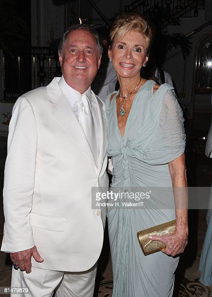 RATES Singer/songwriter Neil Sedaka and wife Leba Sedaka pose during the wedding of Ivana Trump and Rossano Rubicondi at the MaraLago Club on April...