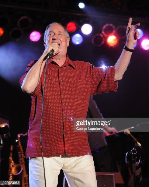 Singer/songwriter Neil Sedaka performs at Asser Levy Park, Coney Island on July 15, 2010 in the Brooklyn Borough of New York City.