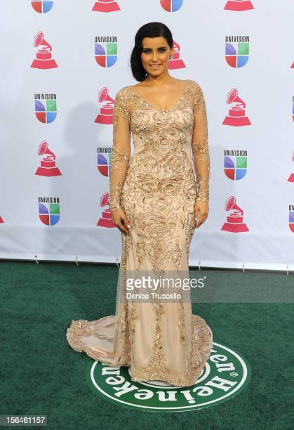 Singer/songwriter Nelly Furtado arrives at the 13th annual Latin GRAMMY Awards held at the Mandalay Bay Events Center on November 15 2012 in Las...