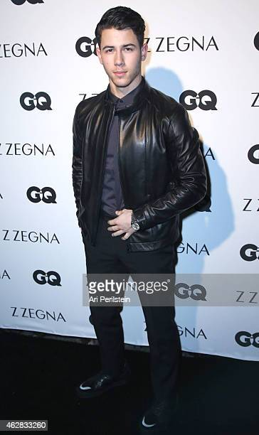 Singer/Songwriter Nick Jonas arrives at Z Zegna GQ Celebrate The New Z Zegna Collection Hosted By Nick Jonas at Philymack Studios on February 5 2015...