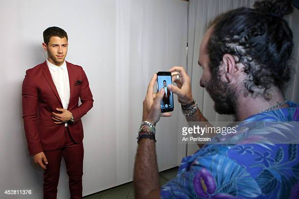 Singersongwriter Nick Jonas attends the 2014 Young Hollywood Awards brought to you by Samsung Galaxy at The Wiltern on July 27 2014 in Los Angeles...
