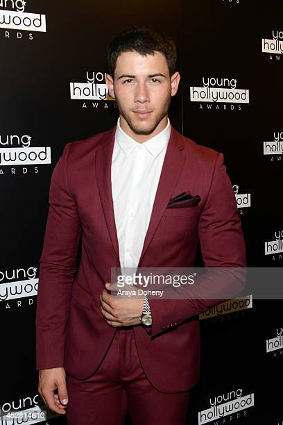 Singersongwriter Nick Jonas attends the 2014 Young Hollywood Awards brought to you by Mr Pink held at The Wiltern on July 27 2014 in Los Angeles...