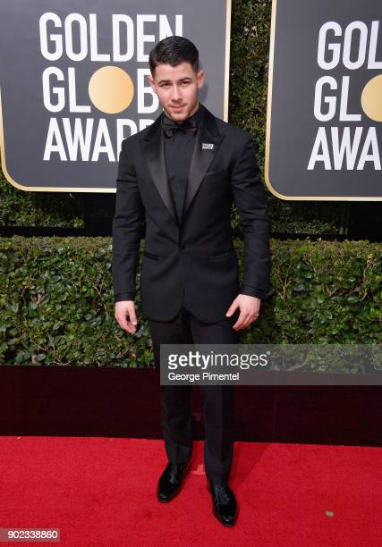 Singersongwriter Nick Jonas attends The 75th Annual Golden Globe Awards at The Beverly Hilton Hotel on January 7 2018 in Beverly Hills California