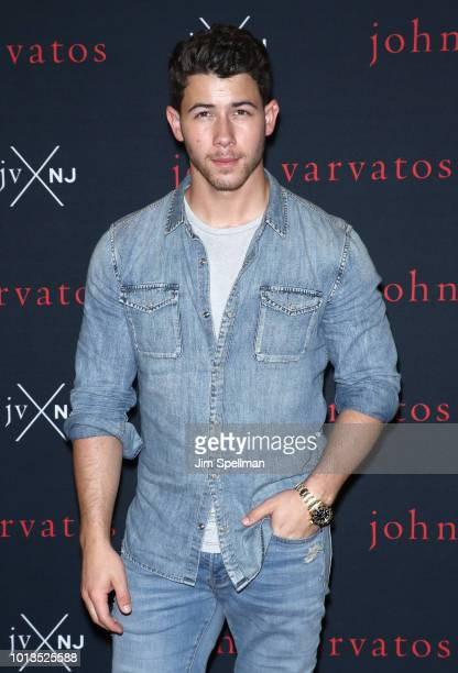 Singer/songwriter Nick Jonas attends the launch for his new fragrance JVxNJ at Mission NYC on August 8 2018 in New York City