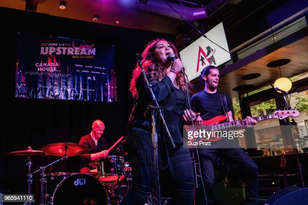 Singersongwriter Nuela Charles performs at the Upstream Music Festival in Pioneer Square on June 1 2018 in Seattle Washington