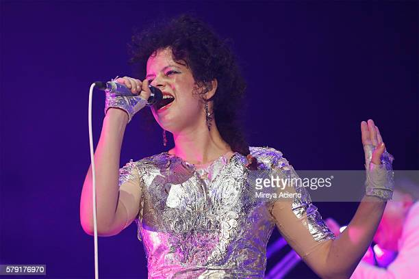 Singer/songwriter of Arcade Fire Regine Chassagne performs during the 2016 Panorama Festival on July 22 2016 in New York City