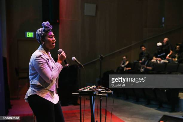 Singersongwriter ParisAlexa performs at the GRAMMYPro Songwriter's Summit at Museum of Pop Culture on April 30 2017 in Seattle Washington