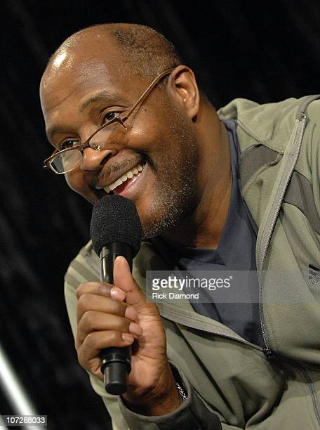 Singersongwriter Pastor Marvin Winans answers questions at The 9th Annual NFL sanctioned Super Bowl Gospel Celebration Powered by Burger King Press...