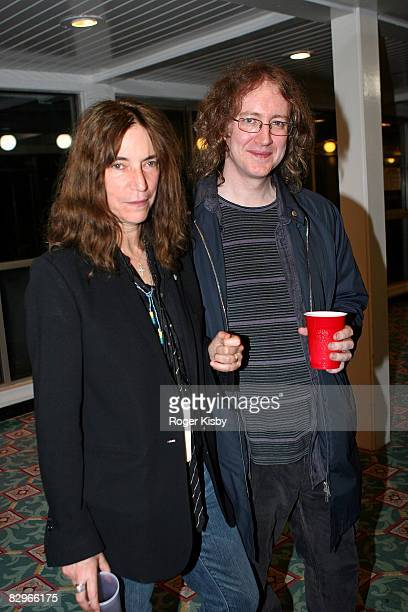 Singer/songwriter Patti Smith and singer/guitarist Kevin Shields of My Bloody Valentine attend the ATP New York 2008 music festival at Kutshers...