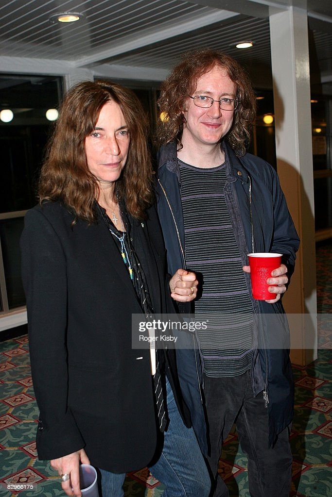 Singer/songwriter Patti Smith And Singer/guitarist Kevin Shields Of My  Bloody Valentine Attend