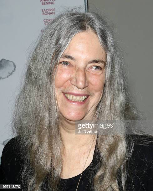 Singer/songwriter Patti Smith attends the New York screening of The Seagull at Elinor Bunin Munroe Film Center on May 10 2018 in New York City