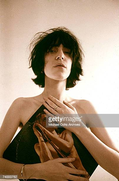 Singer/songwriter Patti Smith poses for a portrait session in November 1974 in Los Angeles California