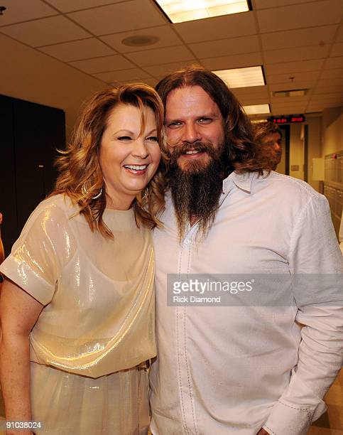 Singer/Songwriter Patty Loveless and Singer/Songwriter Jamey Johnson backstage during the second annual ACM Honors at Schermerhorn Symphony Center on...