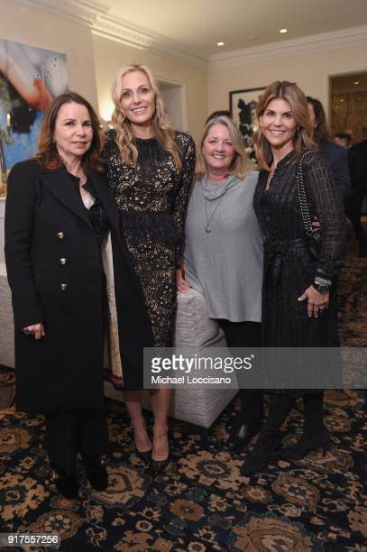 Singersongwriter Patty Smyth host Jamie Tisch Songwriter Liz Rose and Lori Loughlin attend the Country Music Hall Of Fame And Museum Reception With...