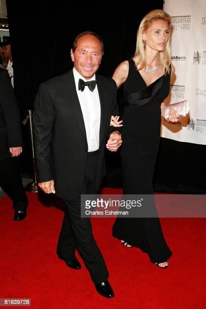 Singer/songwriter Paul Anka and Anna Yeager arrive at the 39th Annual Songwriters Hall of Fame Induction Ceremony on June 19 2008 at the Marriott...
