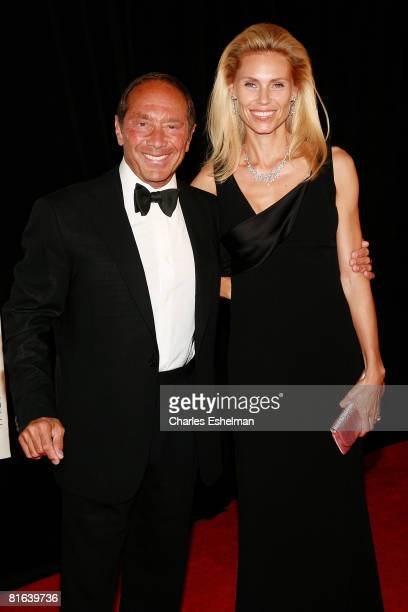 Singer/songwriter Paul Anka and Anna Yeager arrive to attend the 39th Annual Songwriters Hall of Fame Induction Ceremony at the Marriott Marquis on...