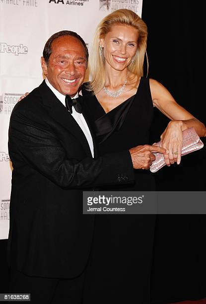 Singer/songwriter Paul Anka and Anna Yeager attend the 39th Annual Songwriters Hall of Fame Ceremony at the Marriott Marquis on June 19 2008 in New...
