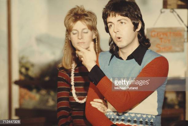 Singersongwriter Paul McCartney and his wife Linda of British rock group Wings posed together in London in November 1973