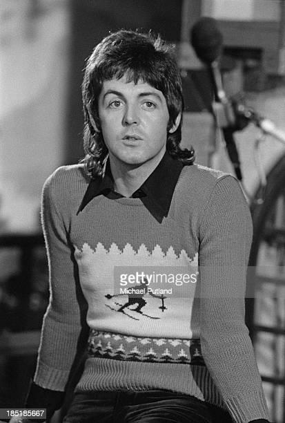 Singersongwriter Paul McCartney of British rock group Wings November 1973
