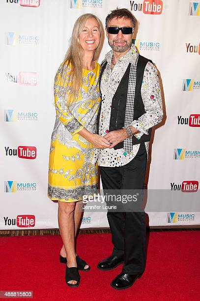 Singersongwriter Paul Rodgers and wife Cynthia Kereluk Rodgers attend the Music Biz 2014 Awards at the Hyatt Regency Century Plaza on May 8 2014 in...