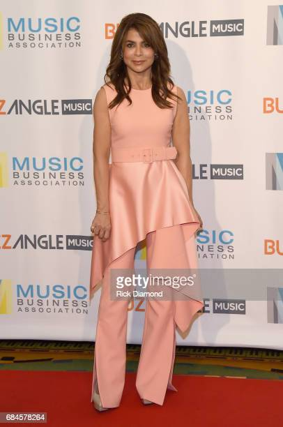 Singersongwriter Paula Abdul attends the Music Biz 2017 Awards Luncheon sponsored by BuzzAngle Music at Renaissance Nashville Hotel on May 18 2017 in...