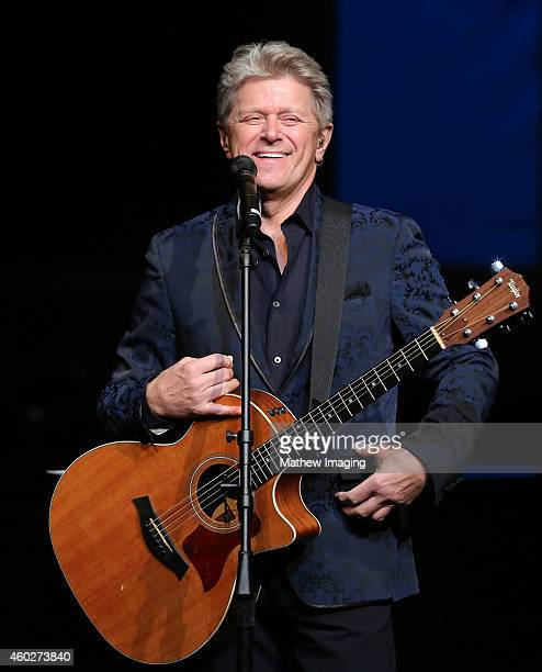Singer/songwriter Peter Cetera performs onstage at a PBS SoCal Holiday Celebration with David Foster and Friends at Dolby Theatre on December 10 2014...