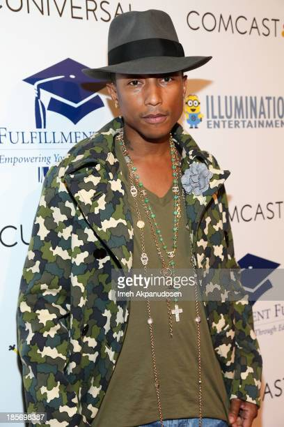 Singer/songwriter Pharrell Williams attends the STARS 2013 Benefit Gala By The Fulfillment Fund at The Beverly Hilton Hotel on October 23 2013 in...