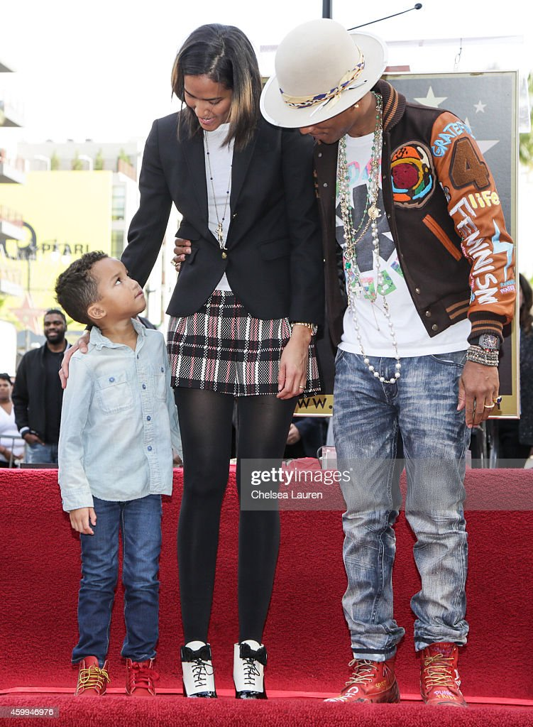 Pharrell Williams Honored With Star On The Hollywood Walk Of Fame : News Photo