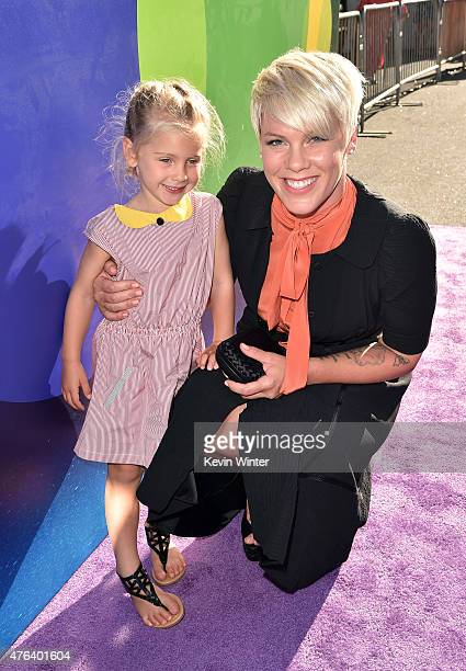 Singer/songwriter Pink and her daughter Willow Sage Hart attend the Los Angeles premiere of DisneyPixar's 'Inside Out' at the El Capitan Theatre on...