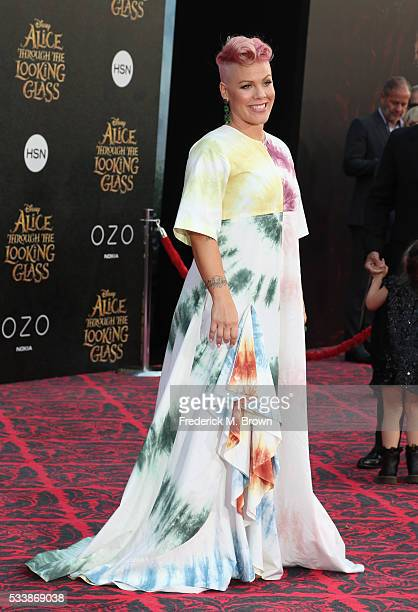 Singersongwriter Pnk attends the premiere of Disney's 'Alice Through The Looking Glass at the El Capitan Theatre on May 23 2016 in Hollywood...
