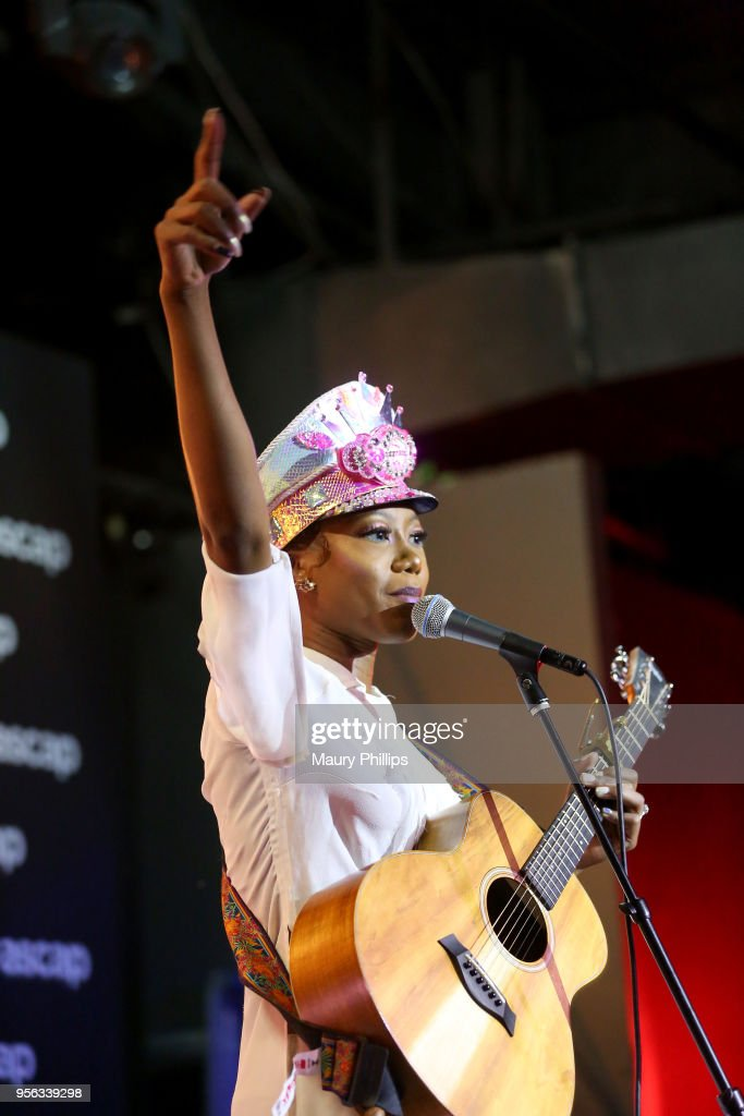 Singer/songwriter Priscilla Renea performs at the 'She Rocks' Showcase Presented by the Women's International Music Network during The 2018 ASCAP 'I Create Music' EXPO at Loews Hollywood Hotel on May 8, 2018 in Hollywood, California.