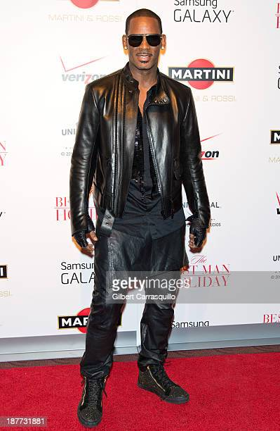 Singersongwriter R Kelly attends The Best Man Holiday screening at Chelsea Bow Tie Cinemas on November 11 2013 in New York City
