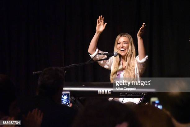 Singer/songwriter Rachel Platten performs at the 2017 Peace Love A Cure Triple Negative Breast Cancer Foundation benefit on May 16 2017 in Tenafly...