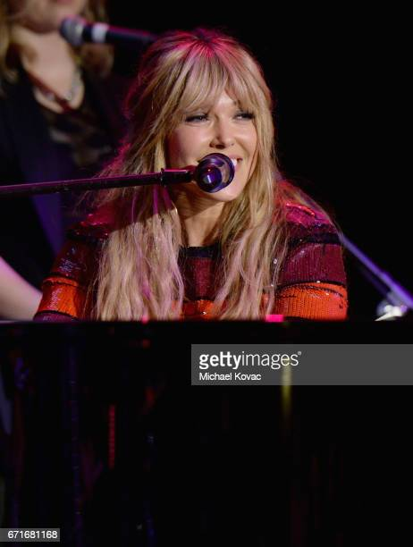 Singersongwriter Rachel Platten performs at The Humane Society of the United States' To the Rescue Los Angeles Gala at Paramount Studios on April 22...