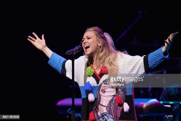 Singersongwriter Rachel Platten performs onstage during Merry Mix Show 2017 at ACL Live on December 13 2017 in Austin Texas