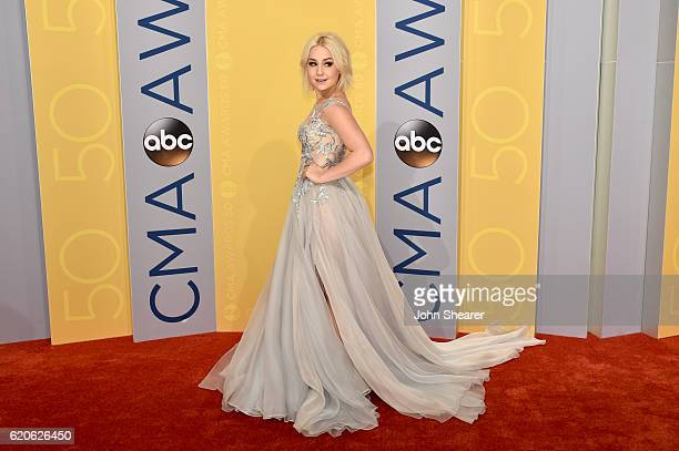Singersongwriter Raelynn attends the 50th annual CMA Awards at the Bridgestone Arena on November 2 2016 in Nashville Tennessee