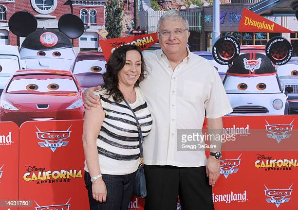 Singer/songwriter Randy Newman and Gretchen Preece arrive at Cars Land Grand Opening at Disney's California Adventure on June 13 2012 in Anaheim...