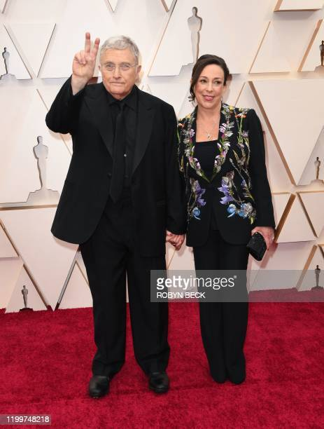 US singersongwriter Randy Newman and Gretchen Preece arrive for the 92nd Oscars at the Dolby Theatre in Hollywood California on February 9 2020