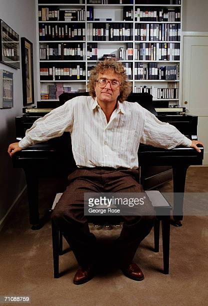 Singer/songwriter Randy Newman poses in his office during a 1988 Los Angeles, California, photo portrait session.